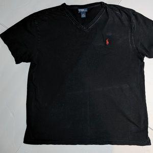 Polo by Ralph Lauren Black V-Neck T-Shirt